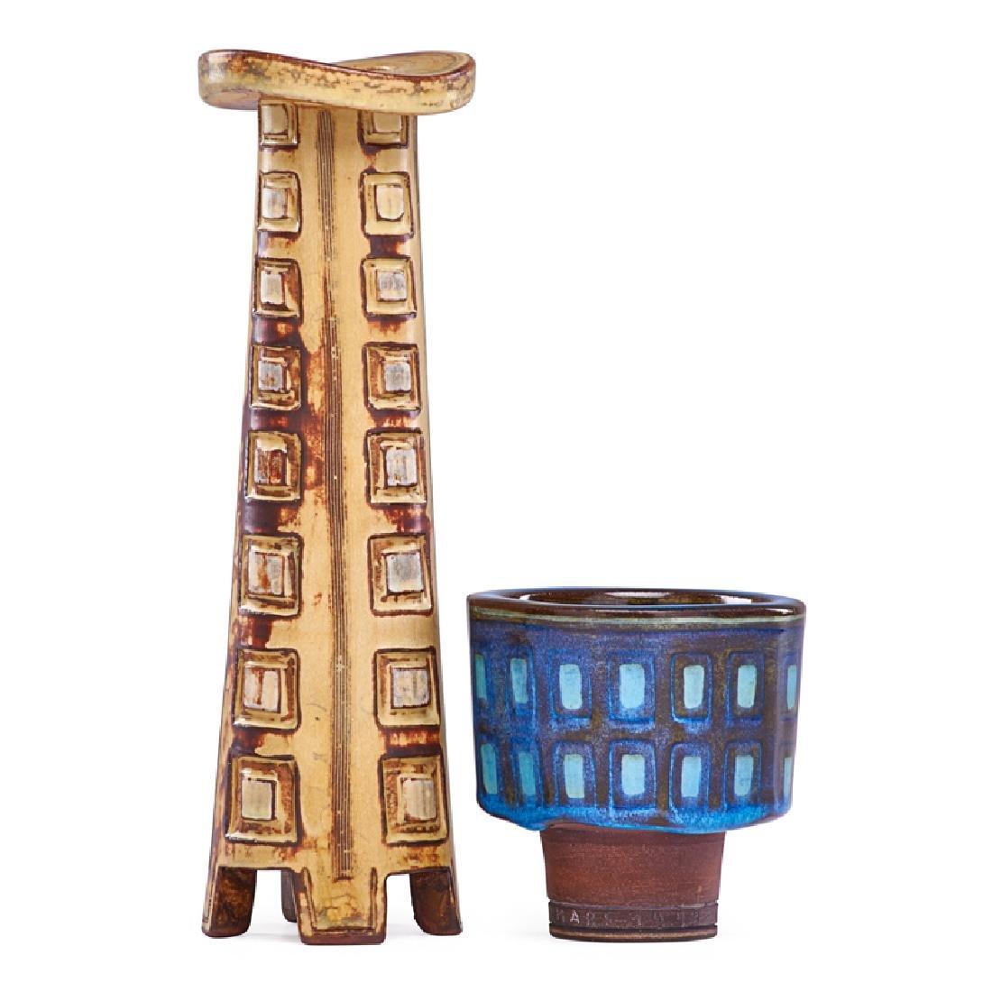WILHELM KAGE Two Farsta vases
