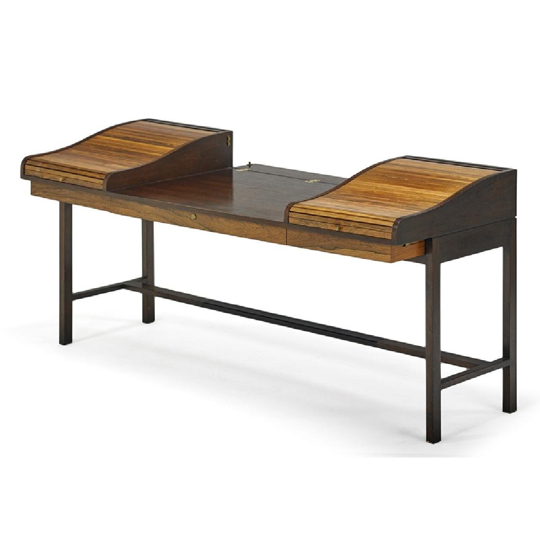 EDWARD WORMLEY Tambour desk - 2
