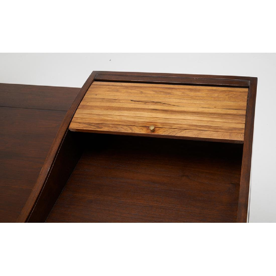 EDWARD WORMLEY Tambour desk - 4