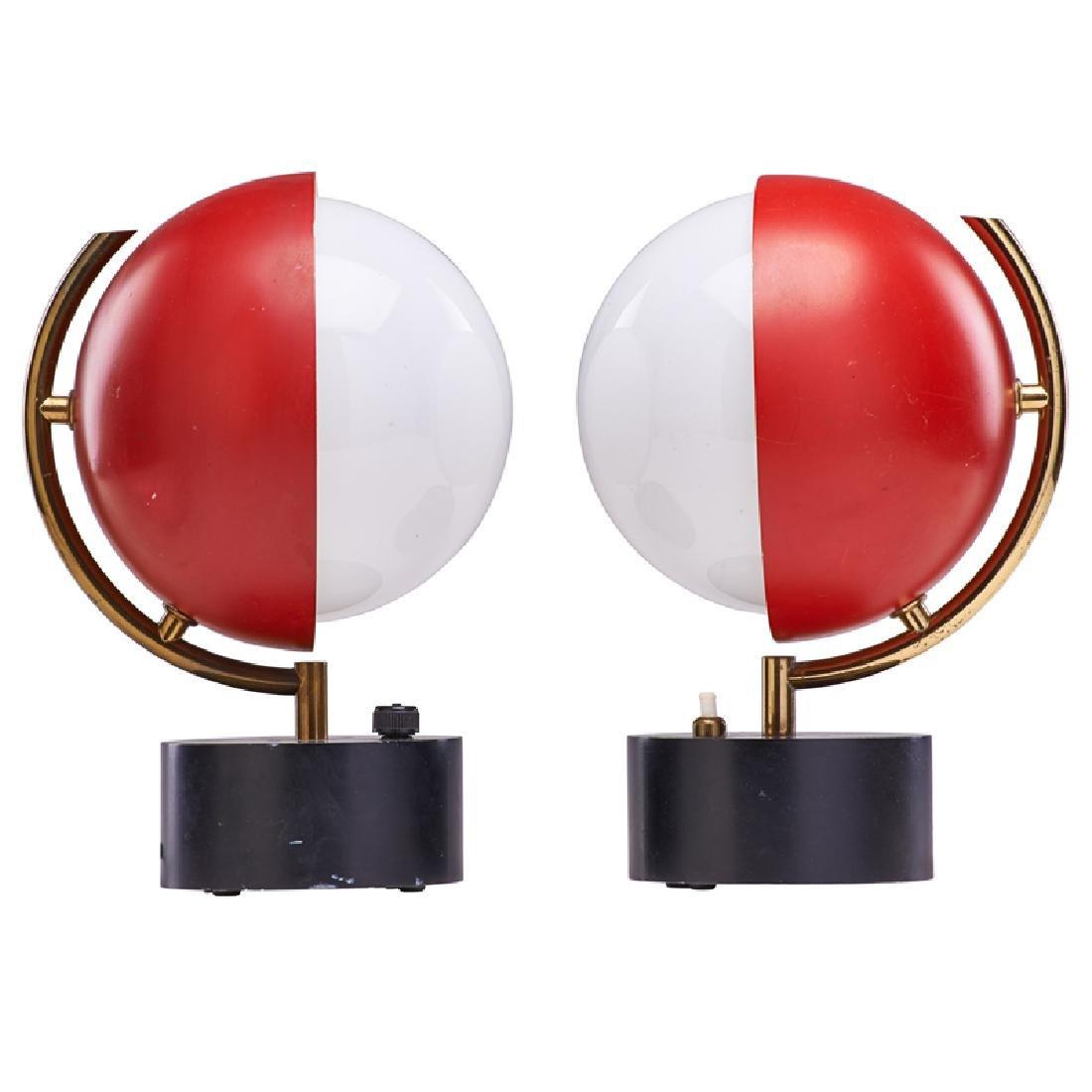 ANGELO LELII; ARREDOLUCE Two pivoting lamps