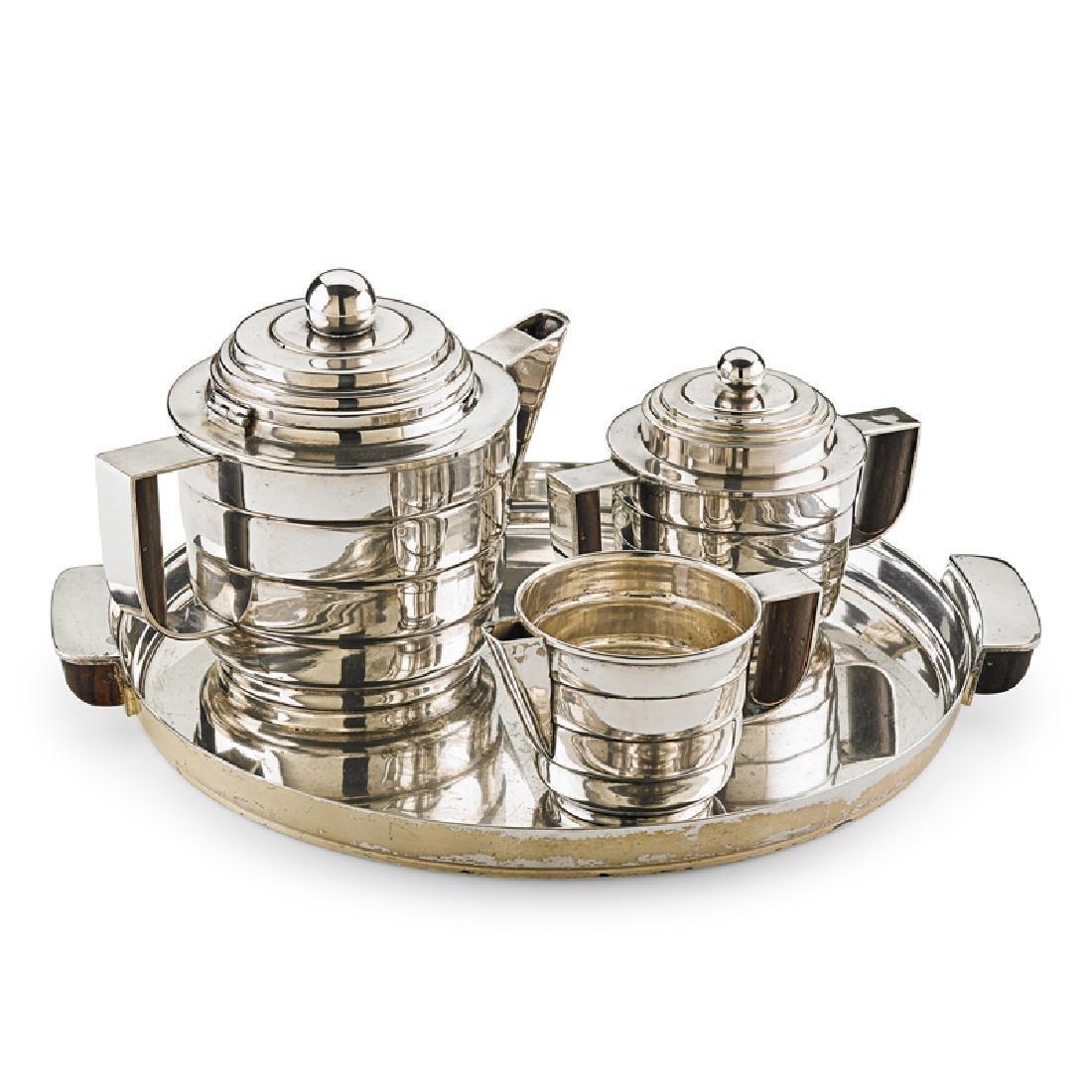 KEM WEBER Rare Silver Style tea set