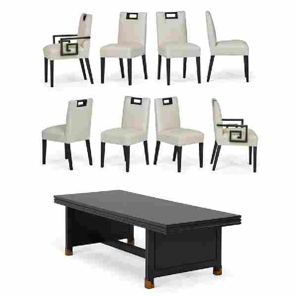 STYLE OF TOMMI PARZINGER Dining table and chairs