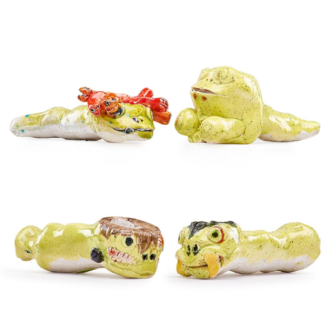 DAVID GILHOOLY Four frog pipes