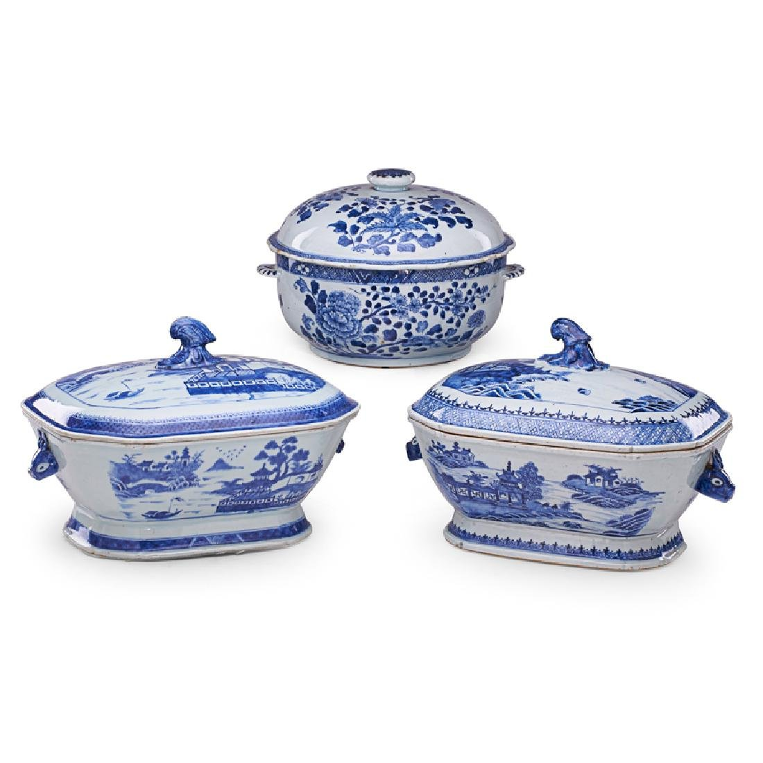 CHINESE EXPORT PORCELAIN COVERED DISHES