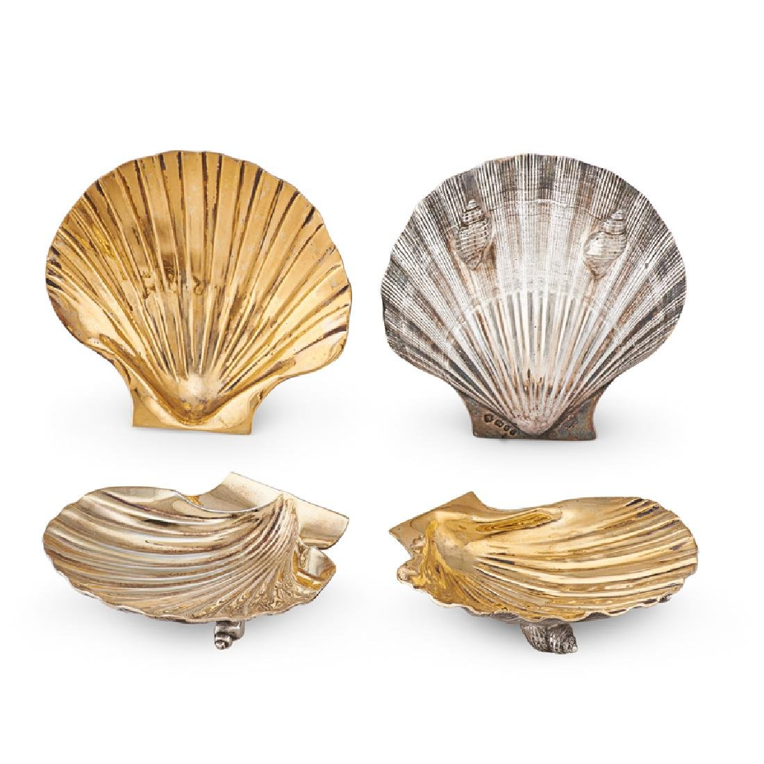 ASPREY STERLING SILVER SHELL DISHES