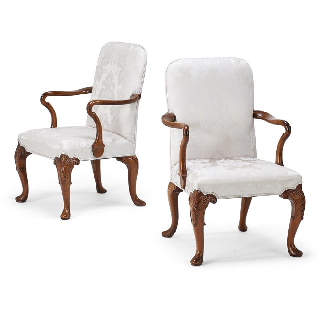 PAIR OF GEORGE II STYLE ARMCHAIRS