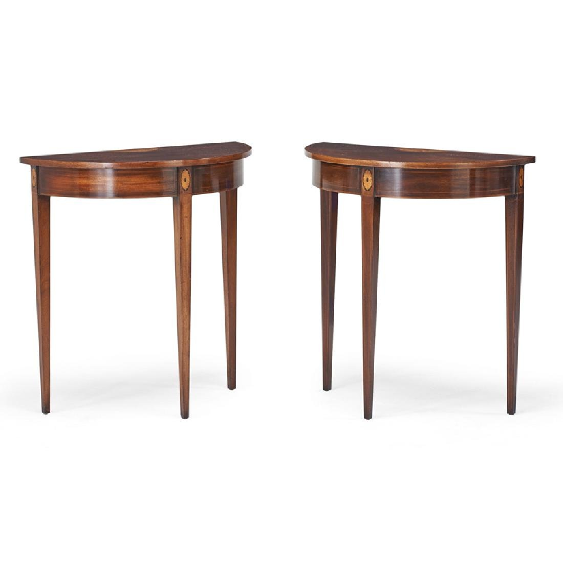 PAIR OF GEORGE III STYLE MAHOGANY CONSOLE TABLES