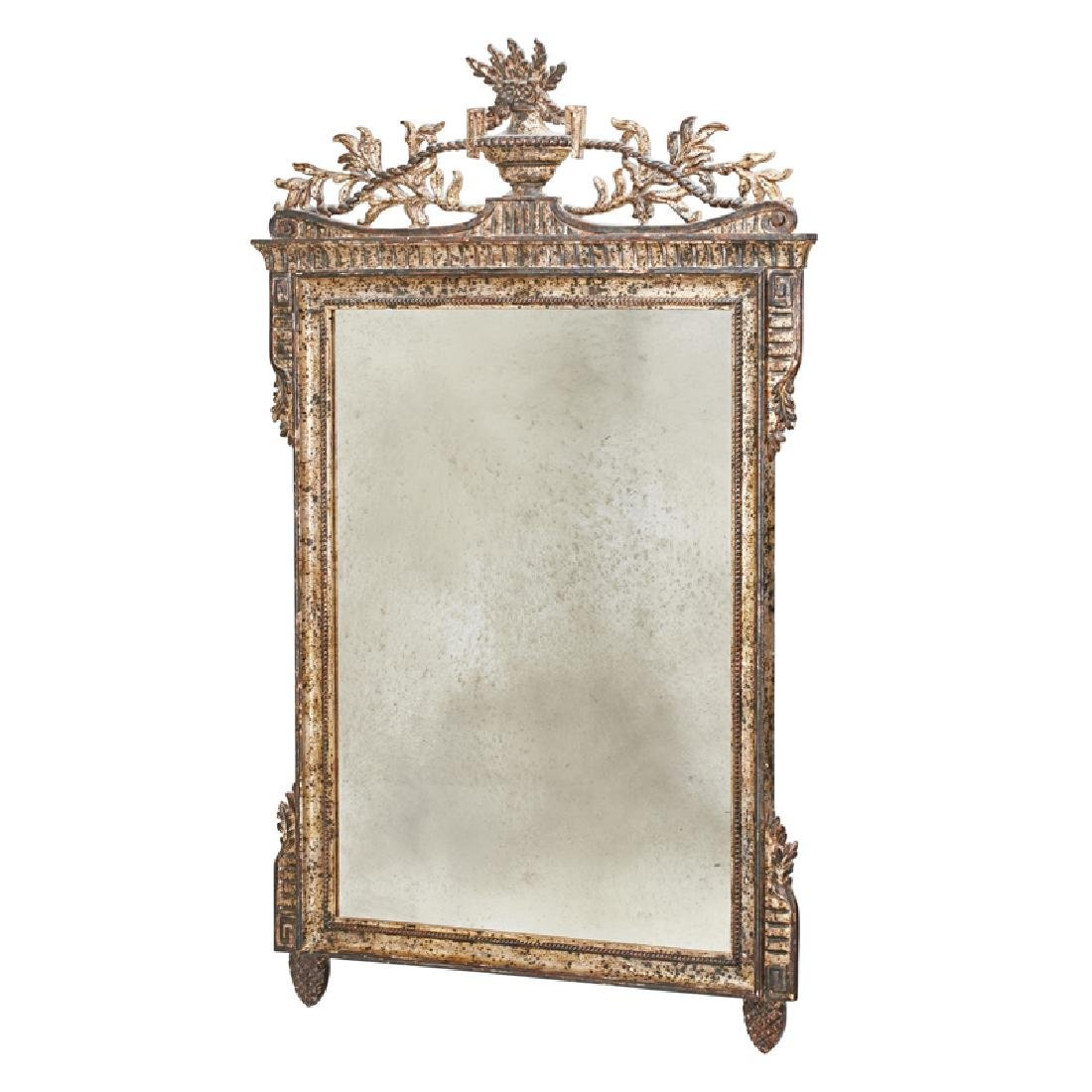 NEOCLASSICAL STYLE SILVERED WOOD MIRROR