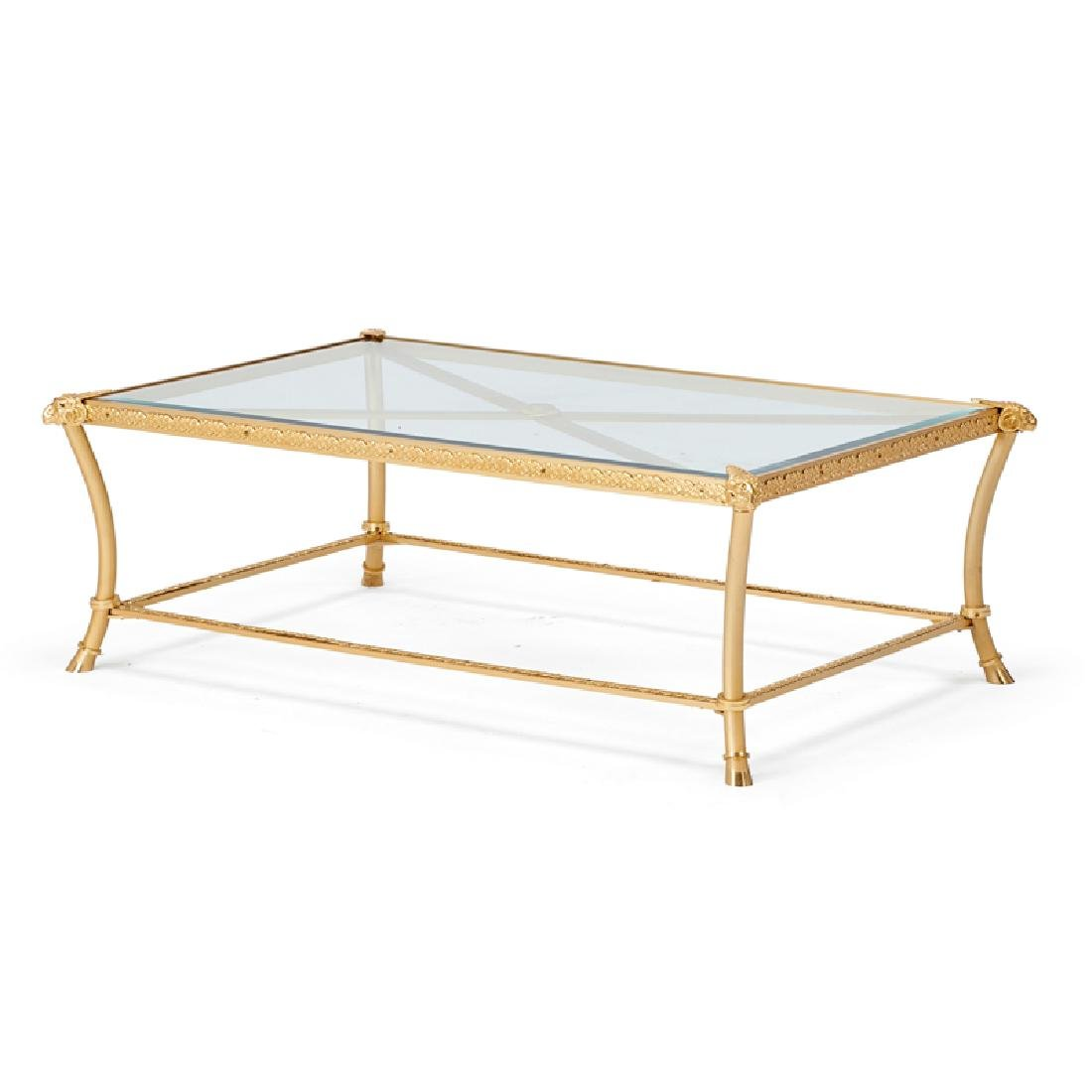 NEOCLASSICAL STYLE GILT BRONZE COFFEE TABLE