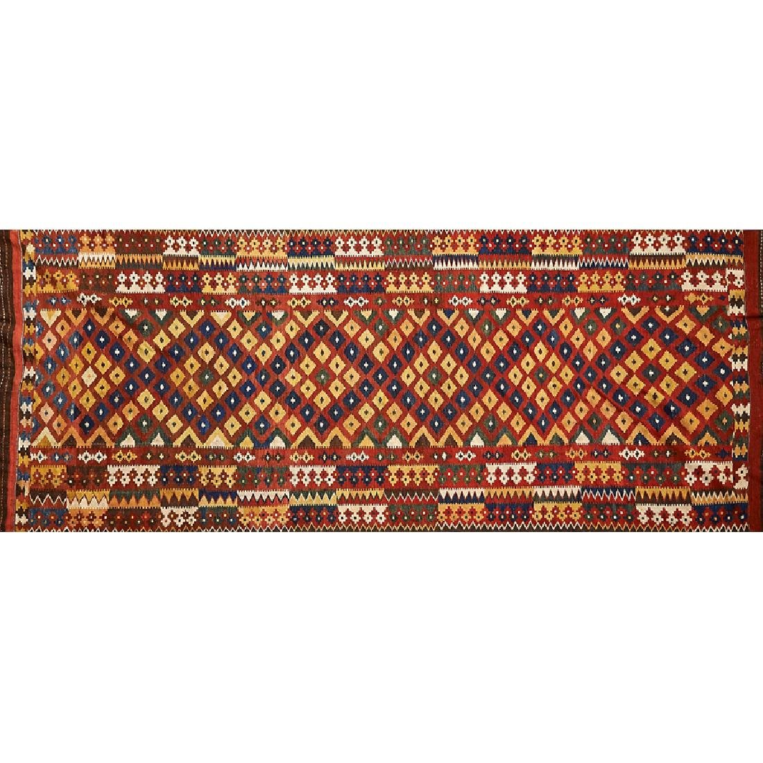 TWO Q'ASHQA'I KILIM RUGS