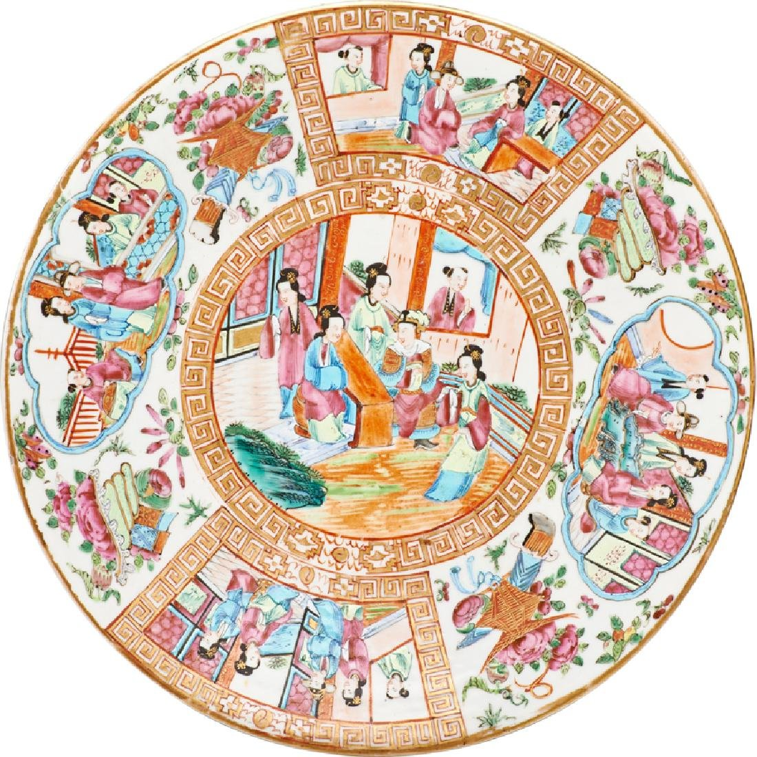 CHINESE FAMILLE ROSE MEDALLION CHARGER