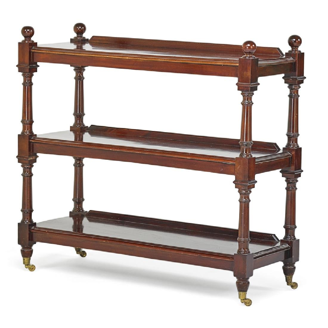 ENGLISH MAHOGANY DESSERT TROLLEY