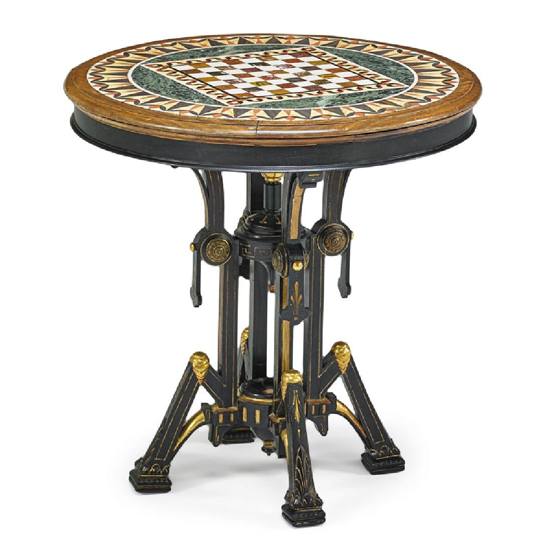 VICTORIAN AESTHETIC MOVEMENT SPECIMEN TOP TABLE