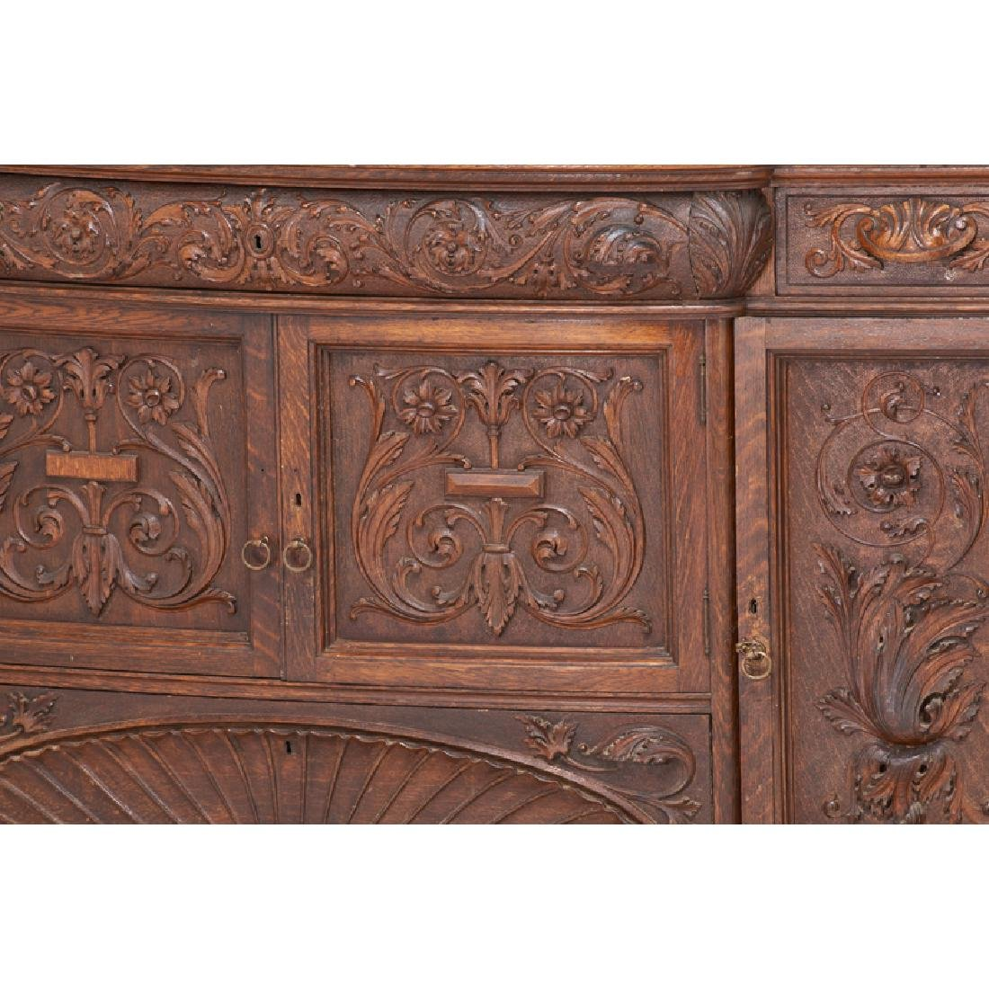 STYLE OF HORNER CARVED OAK BUFFET - 3