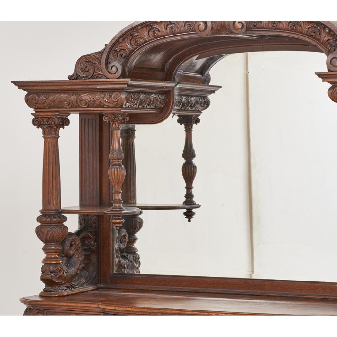 STYLE OF HORNER CARVED OAK BUFFET - 6