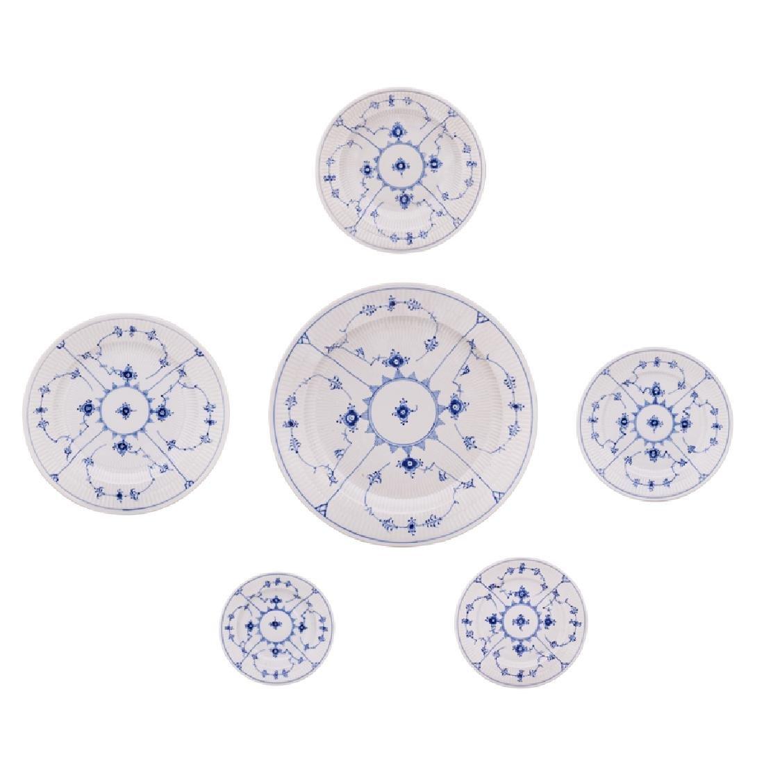 ROYAL COPENHAGEN BLUE FLUTED DINNERWARE - 2