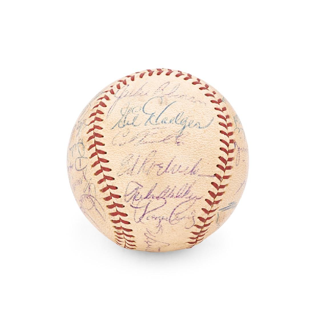 1956 BROOKLYN DODGERS SIGNED BASEBALL