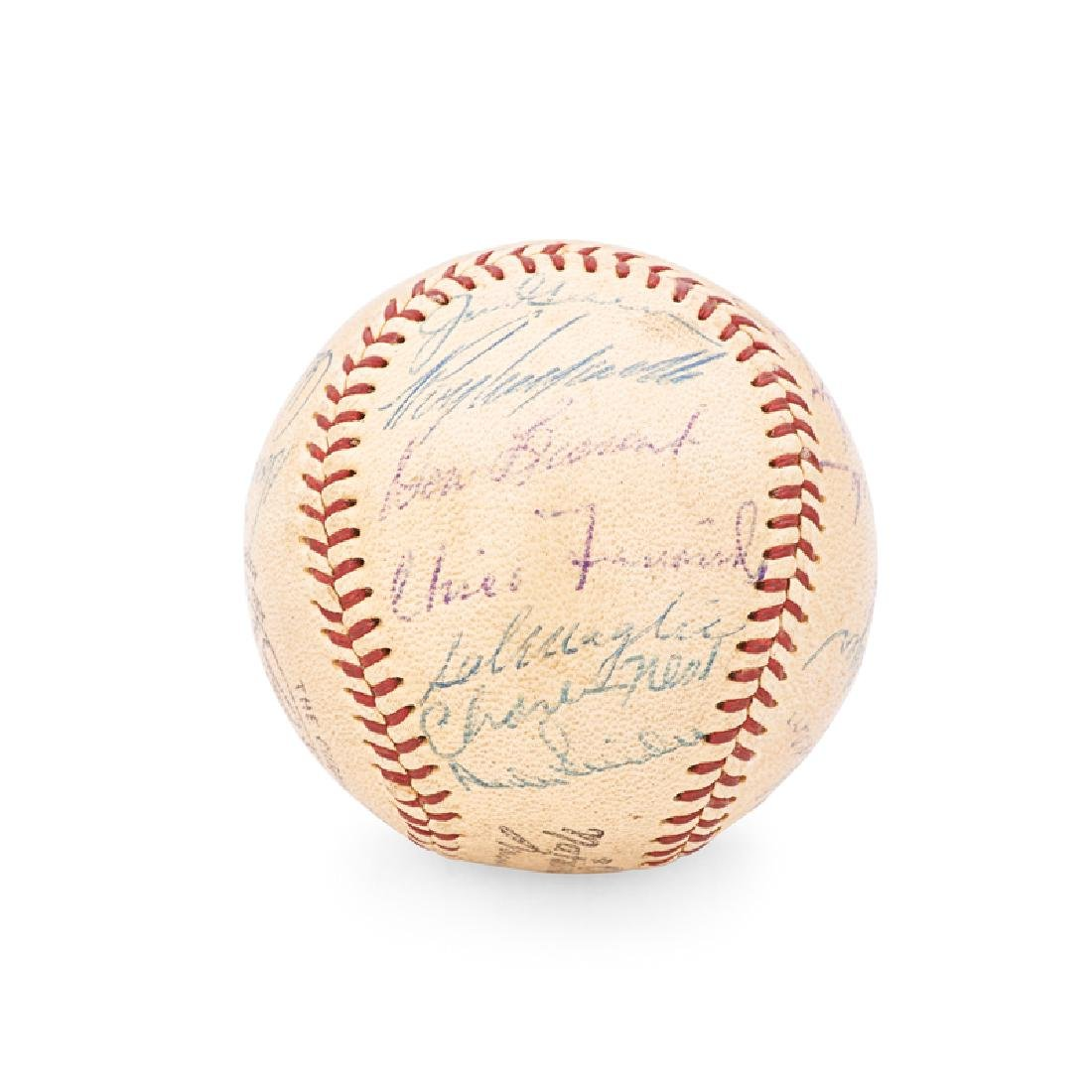1956 BROOKLYN DODGERS SIGNED BASEBALL - 3