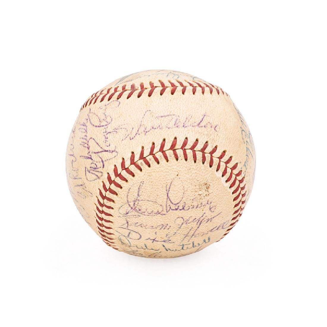 1956 BROOKLYN DODGERS SIGNED BASEBALL - 5