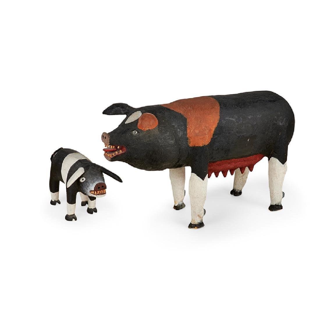 FELIPE ARCHULETA MOTHER AND BABY PIG