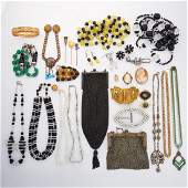 COLLECTION OF ANTIQUE JEWELRY & ACCESSORIES