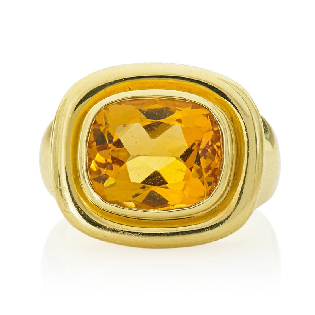 PALOMA PICASSO, TIFFANY & CO. CITRINE, YELLOW GOLD RING