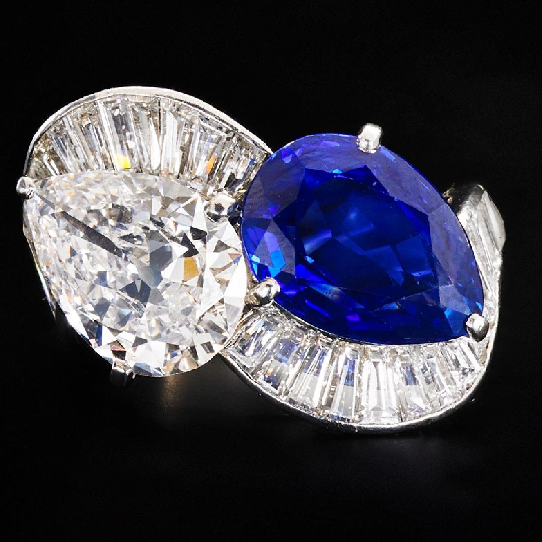 5.10 CTS UNTREATED KASHMIR SAPPHIRE & DIAMOND RING