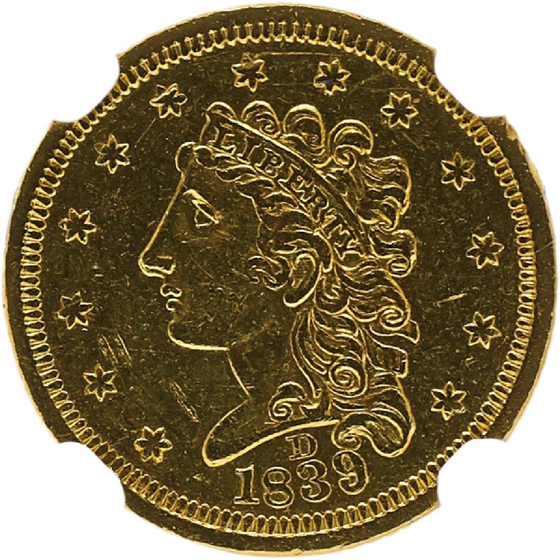 U.S. 1839-D $2.5 GOLD COIN