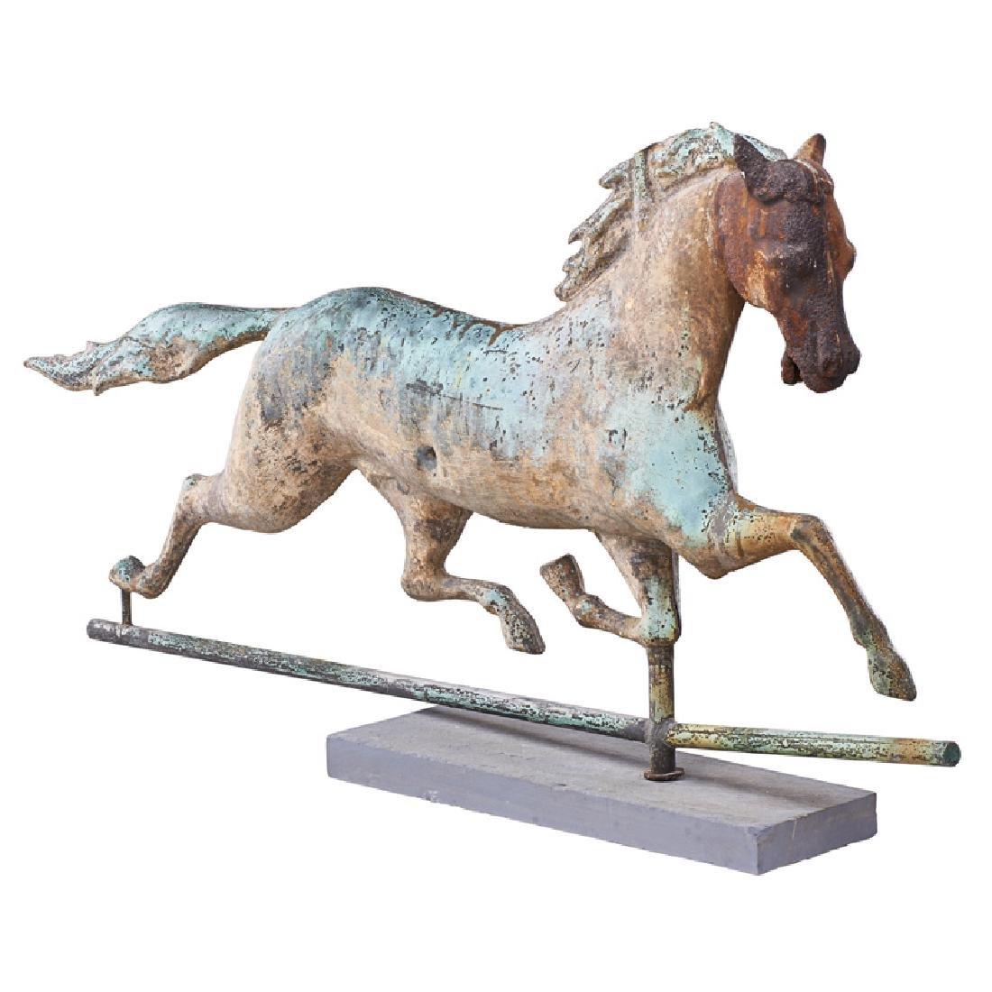 FULL-BODY RUNNING HORSE WEATHERVANE