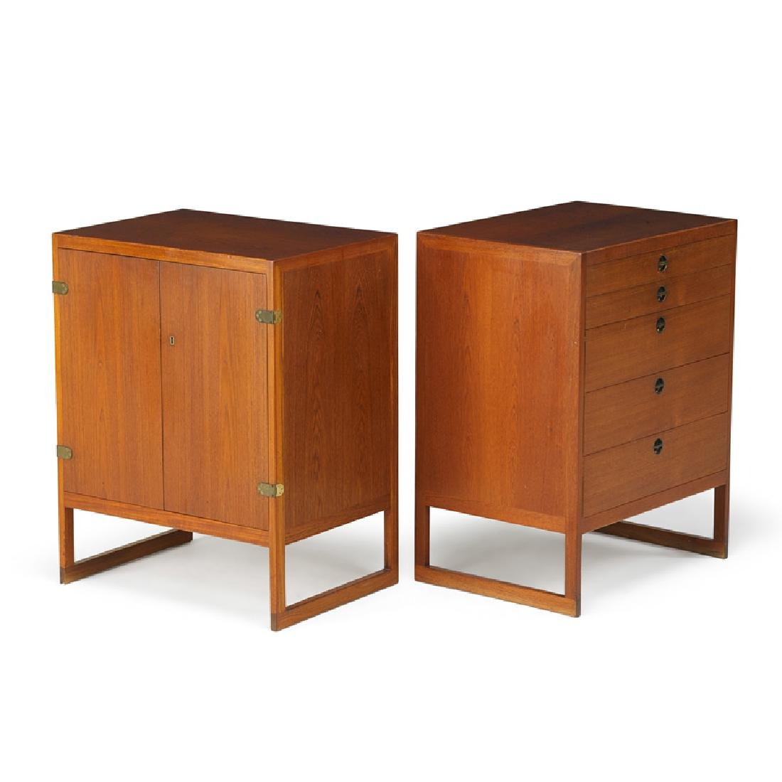 BORGE MOGENSEN Pair of cabinets
