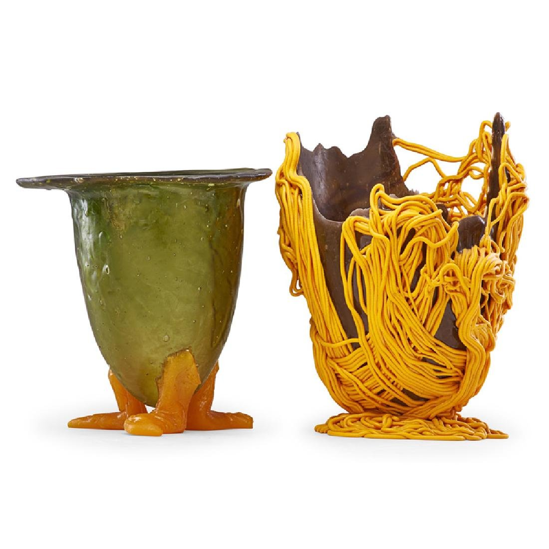 GAETANO PESCE Two resin vessels