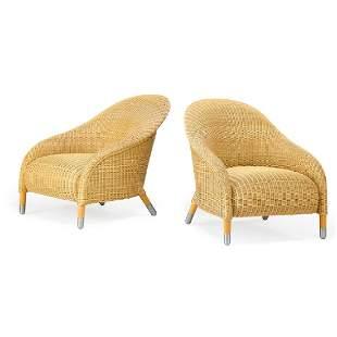 B&B ITALIA Pair of lounge chairs