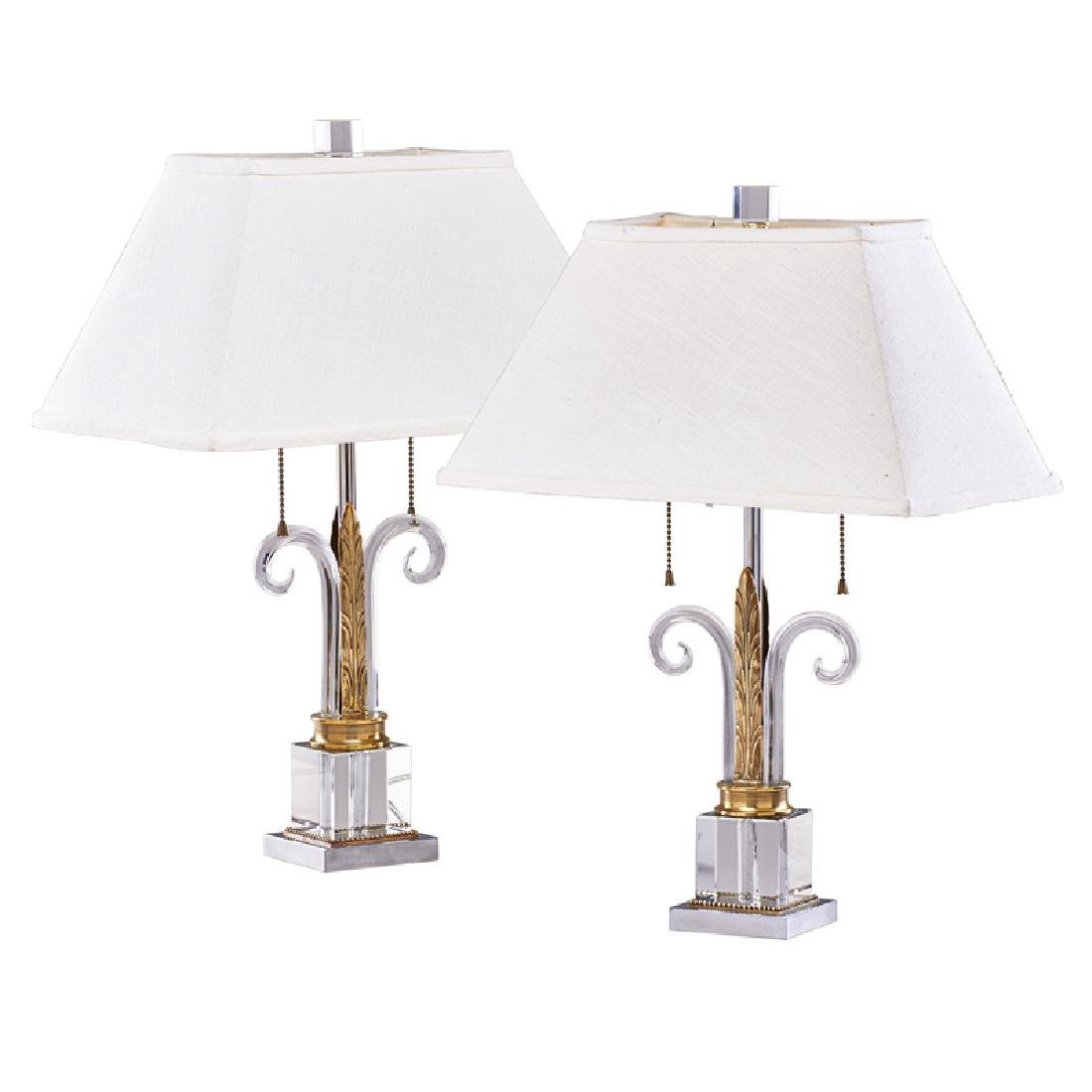 GILBERT ROHDE (Attr. Two table lamps