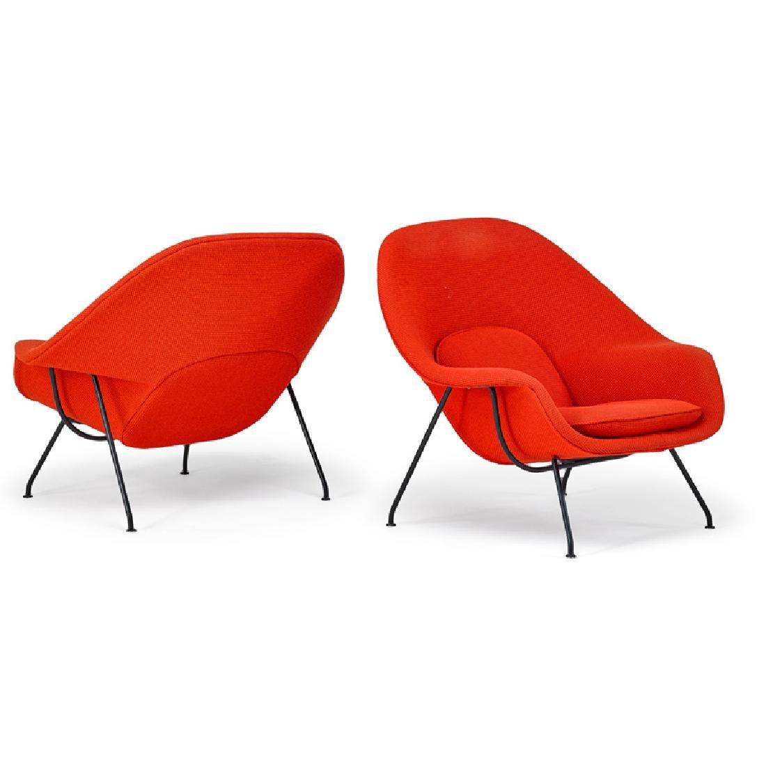 EERO SAARINEN Pair of Womb chairs
