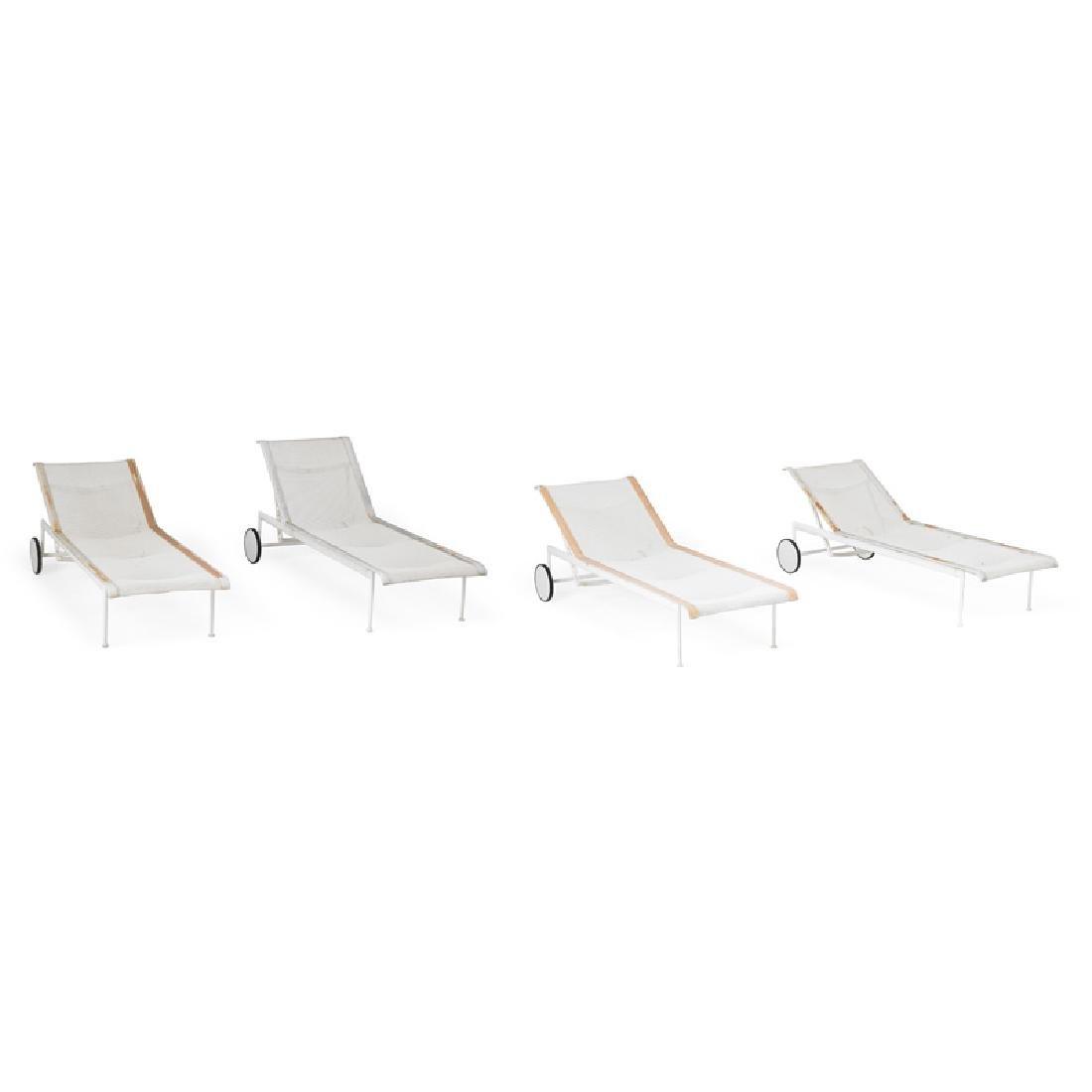 RICHARD SCHULTZ Four reclining lounge chairs