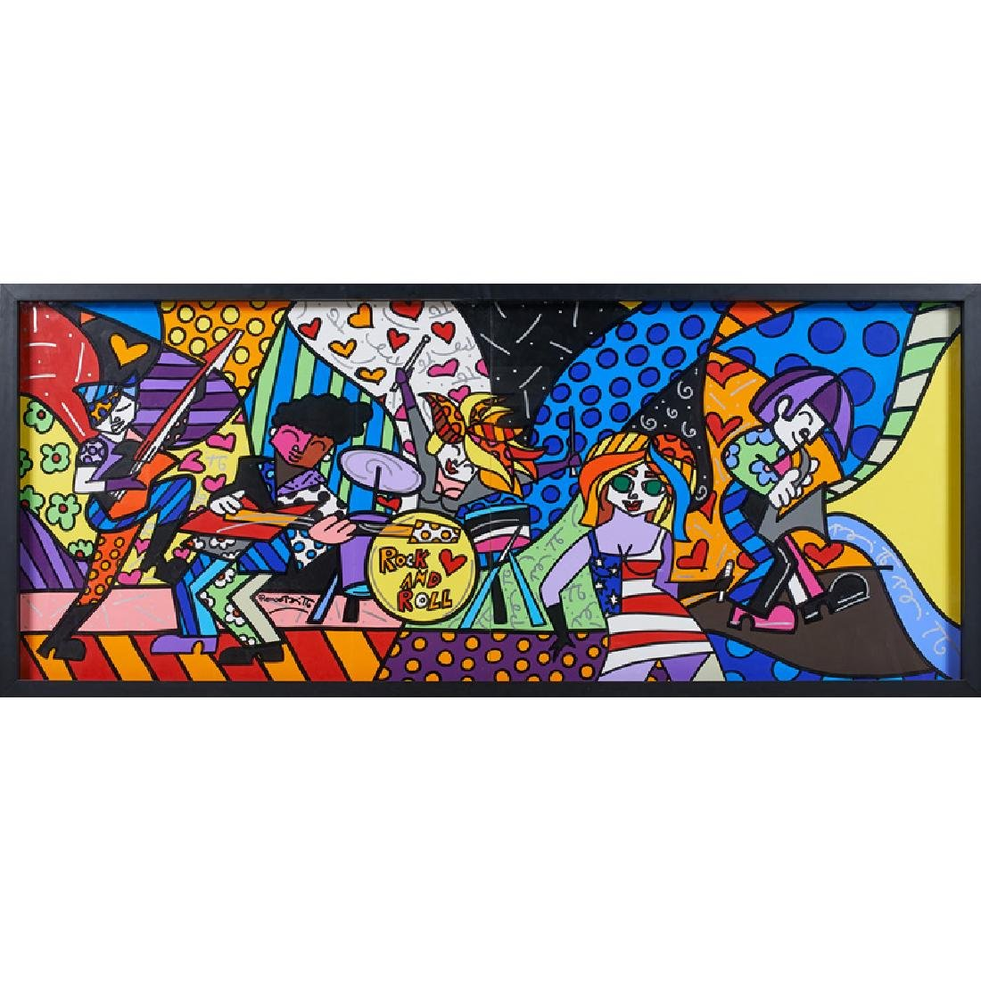 ROMERO BRITTO Large untitled painting