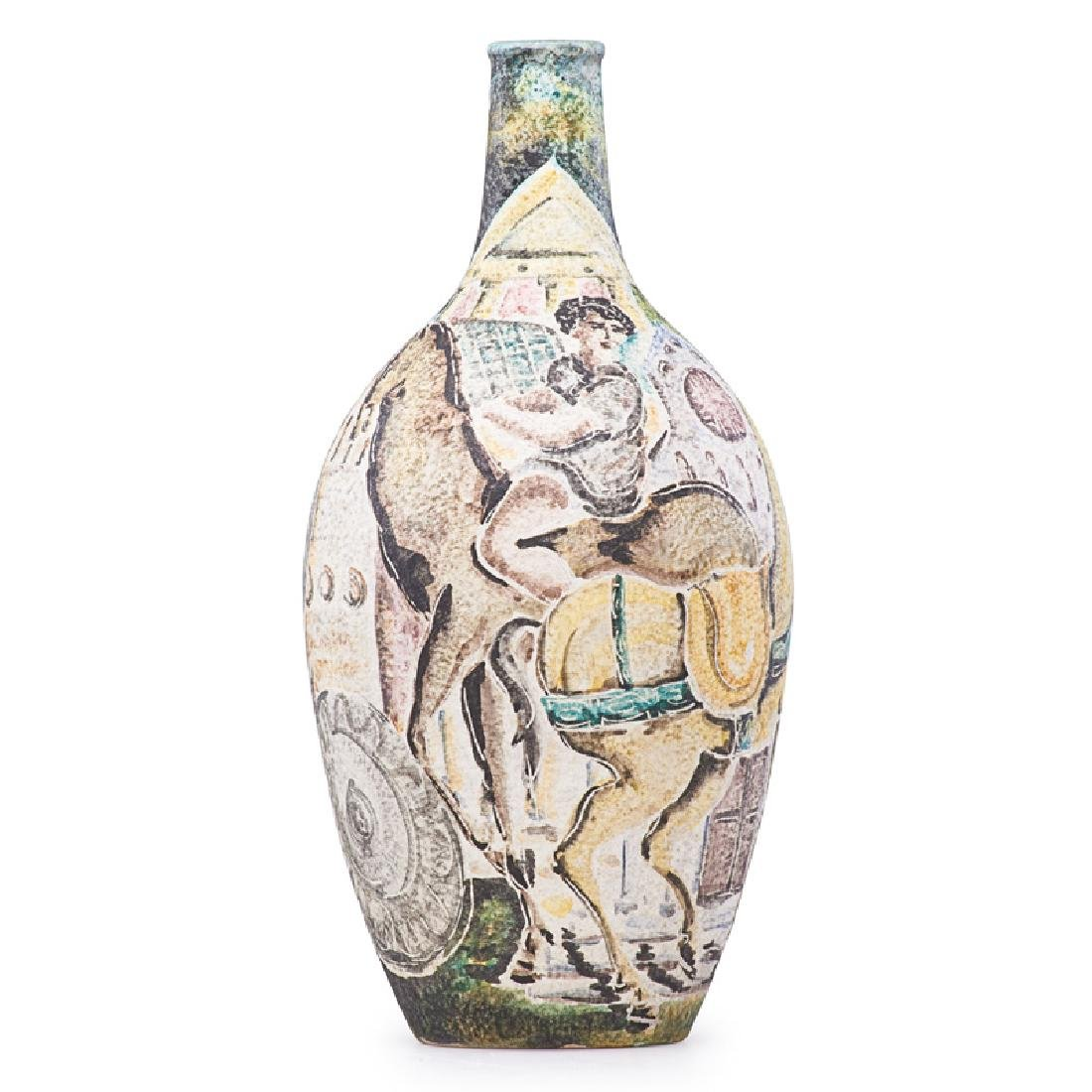 MARCELLO FANTONI Vase with Roman soldiers