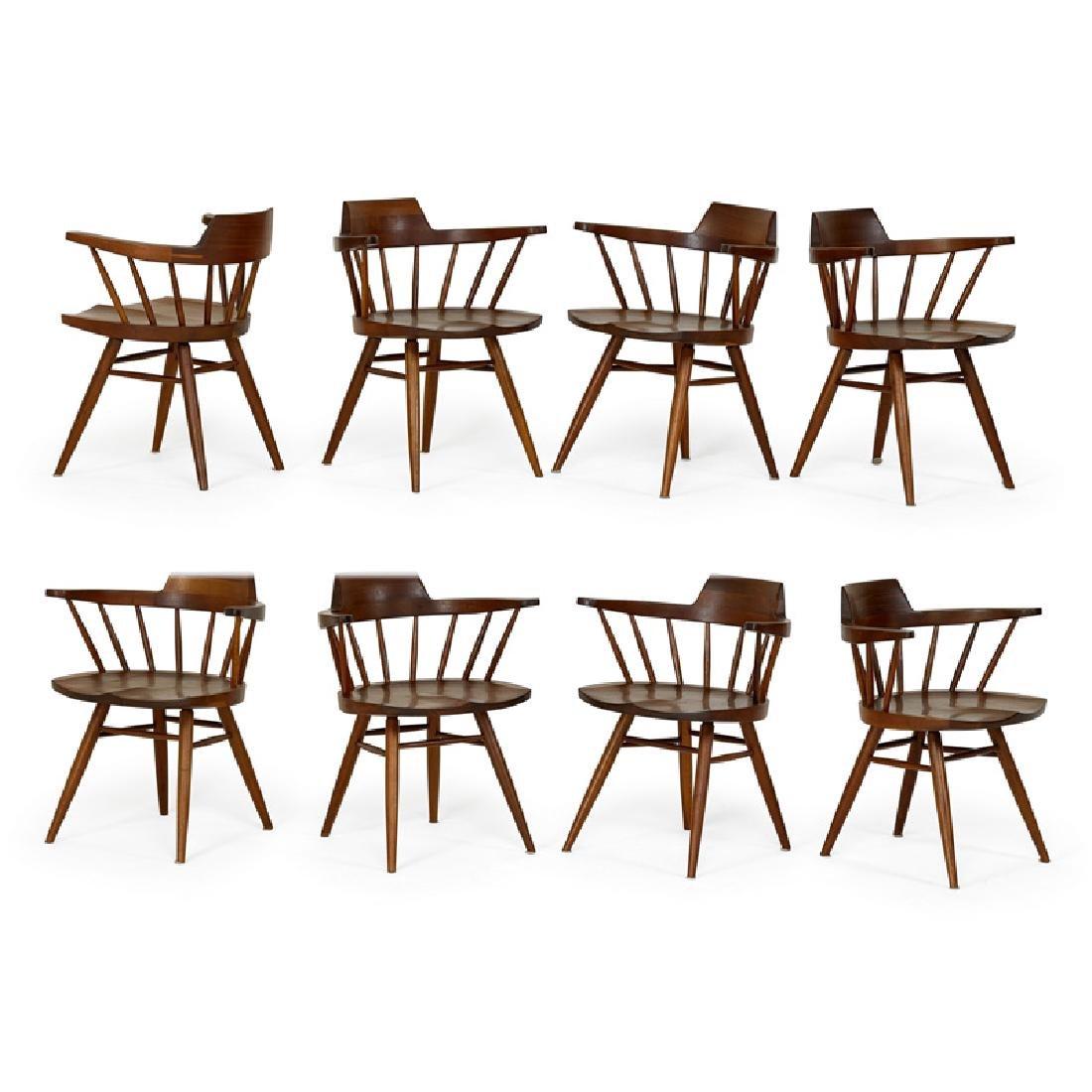 GEORGE NAKASHIMA Eight Captain's chairs