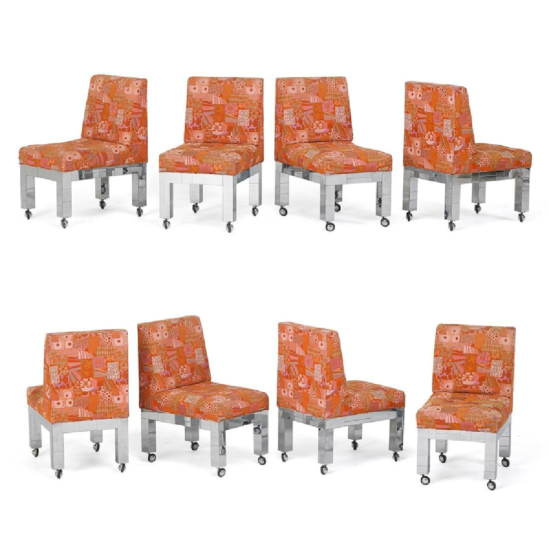 PAUL EVANS Set of eight dining chairs
