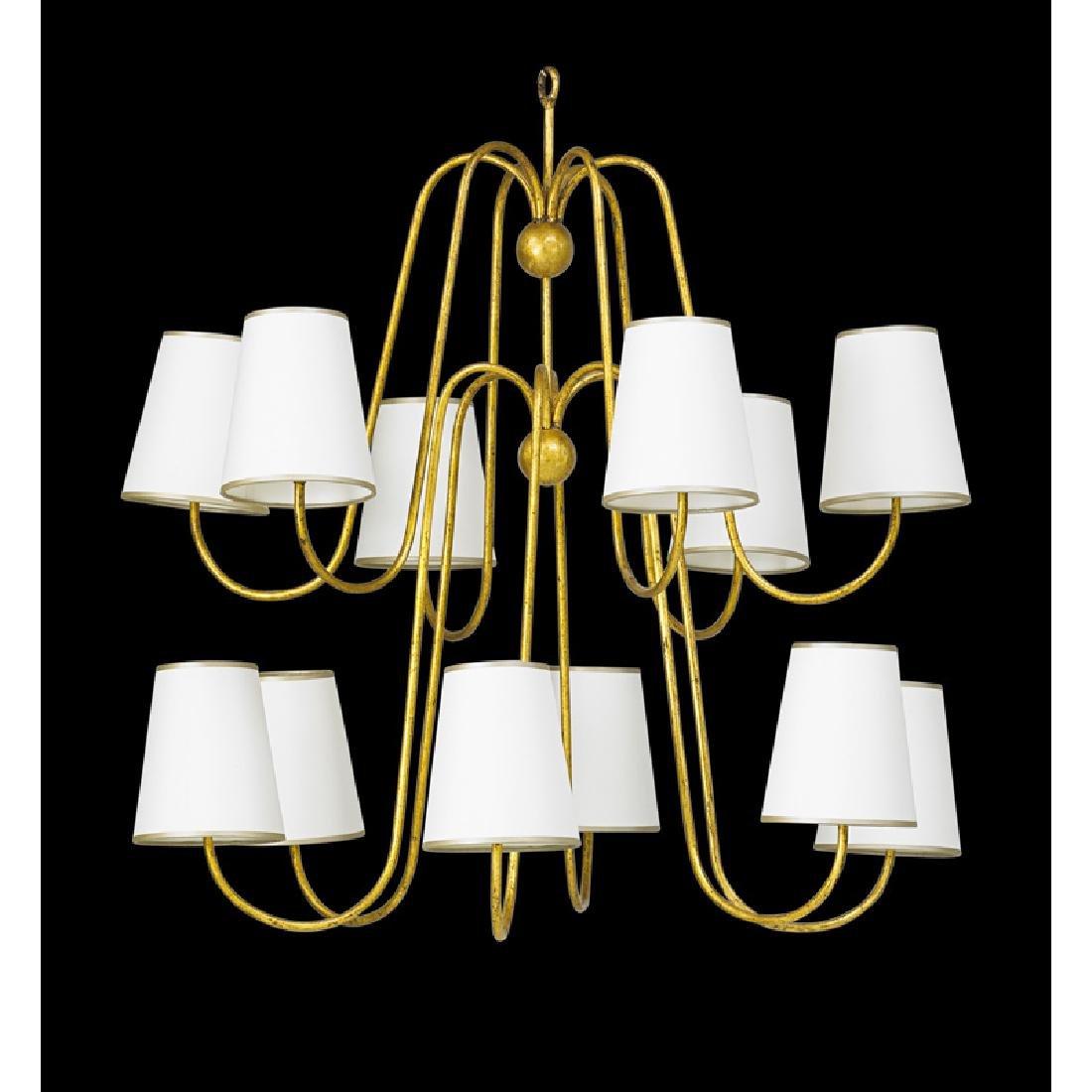 JEAN ROYERE Twelve-arm chandelier