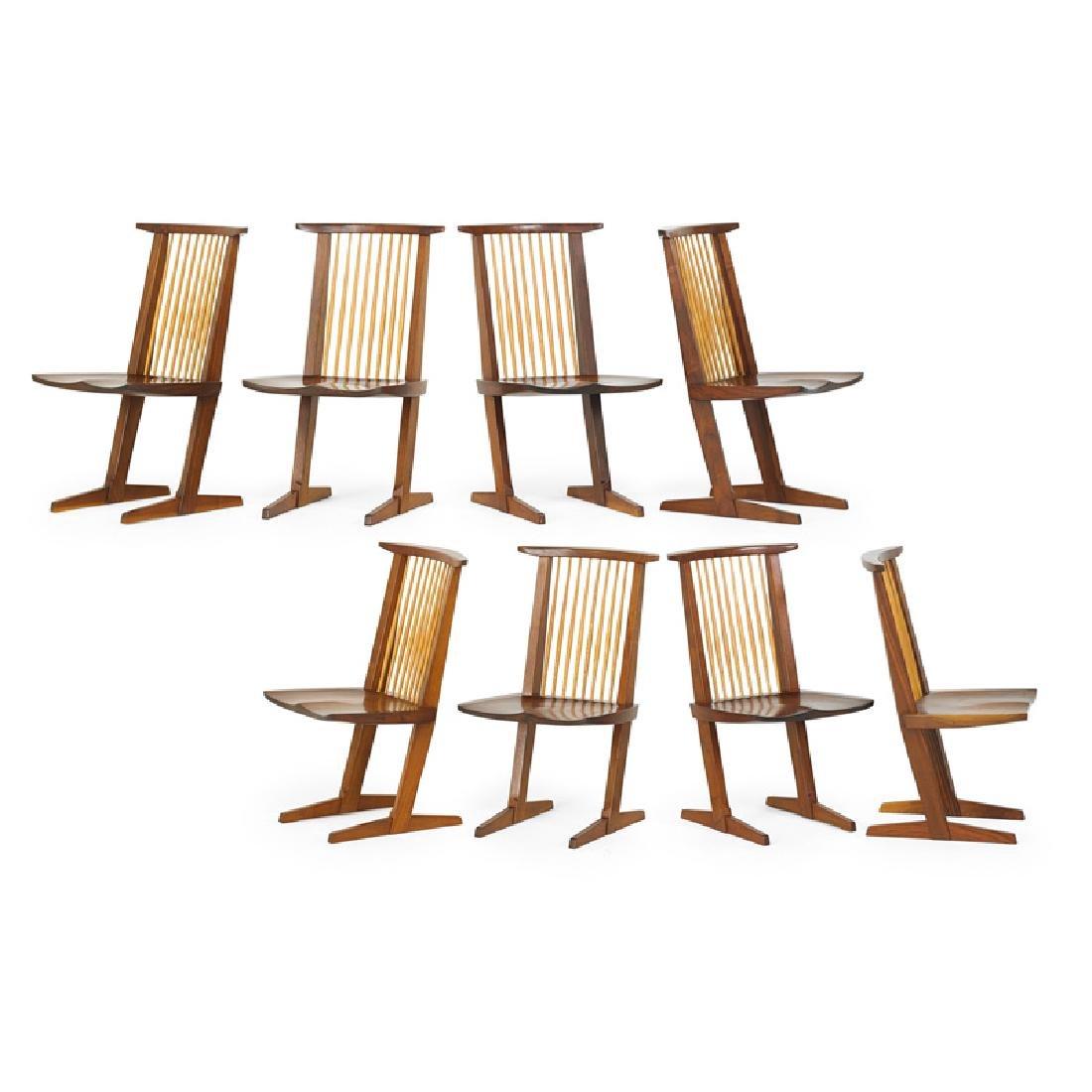 GEORGE NAKASHIMA Eight Conoid chairs