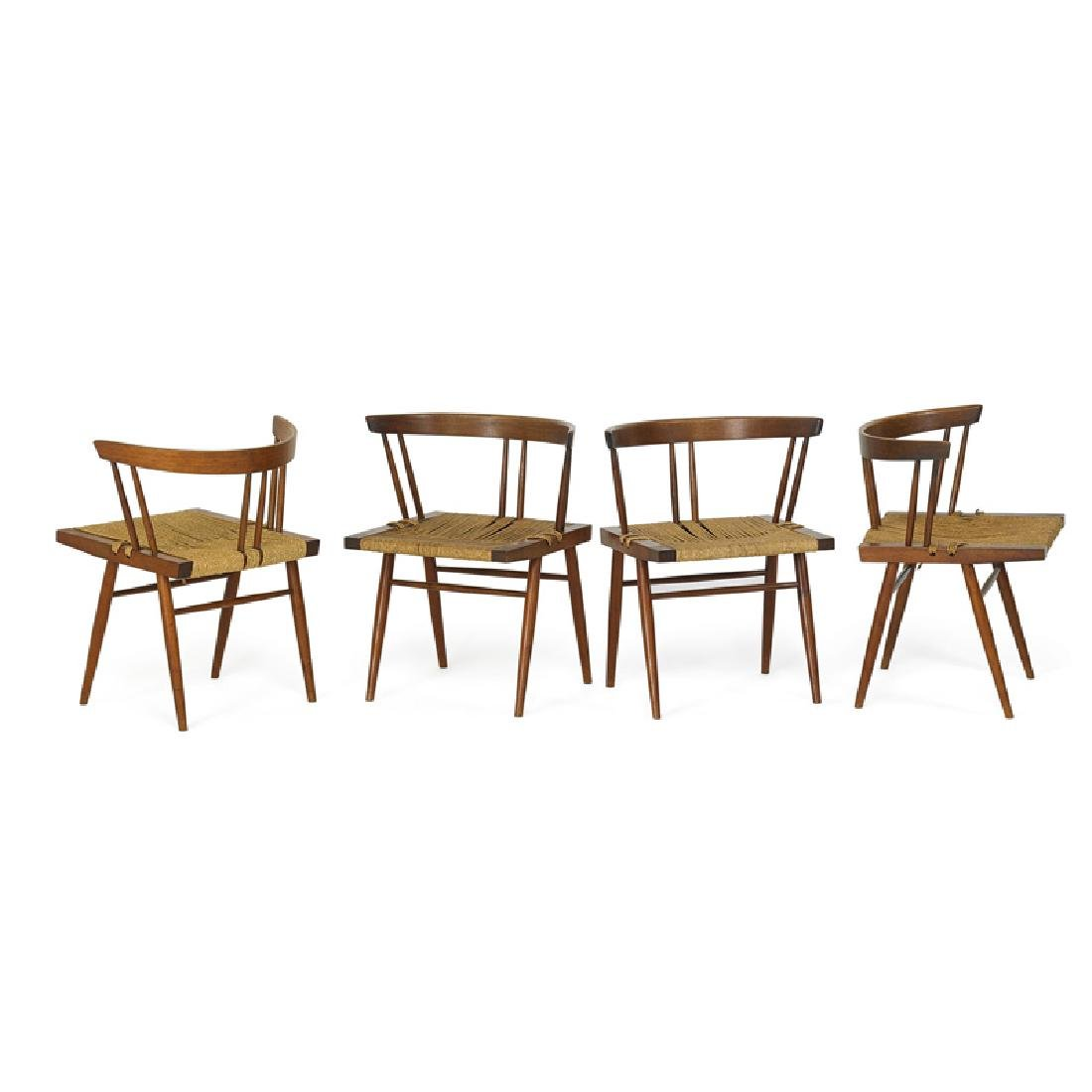 GEORGE NAKASHIMA Set of four Grass-seated chairs