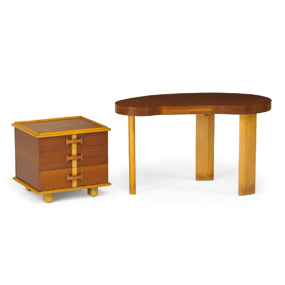 PAUL FRANKL Desk and cabinet
