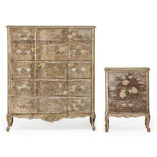 MAX KUEHNE Tall dresser and nightstand