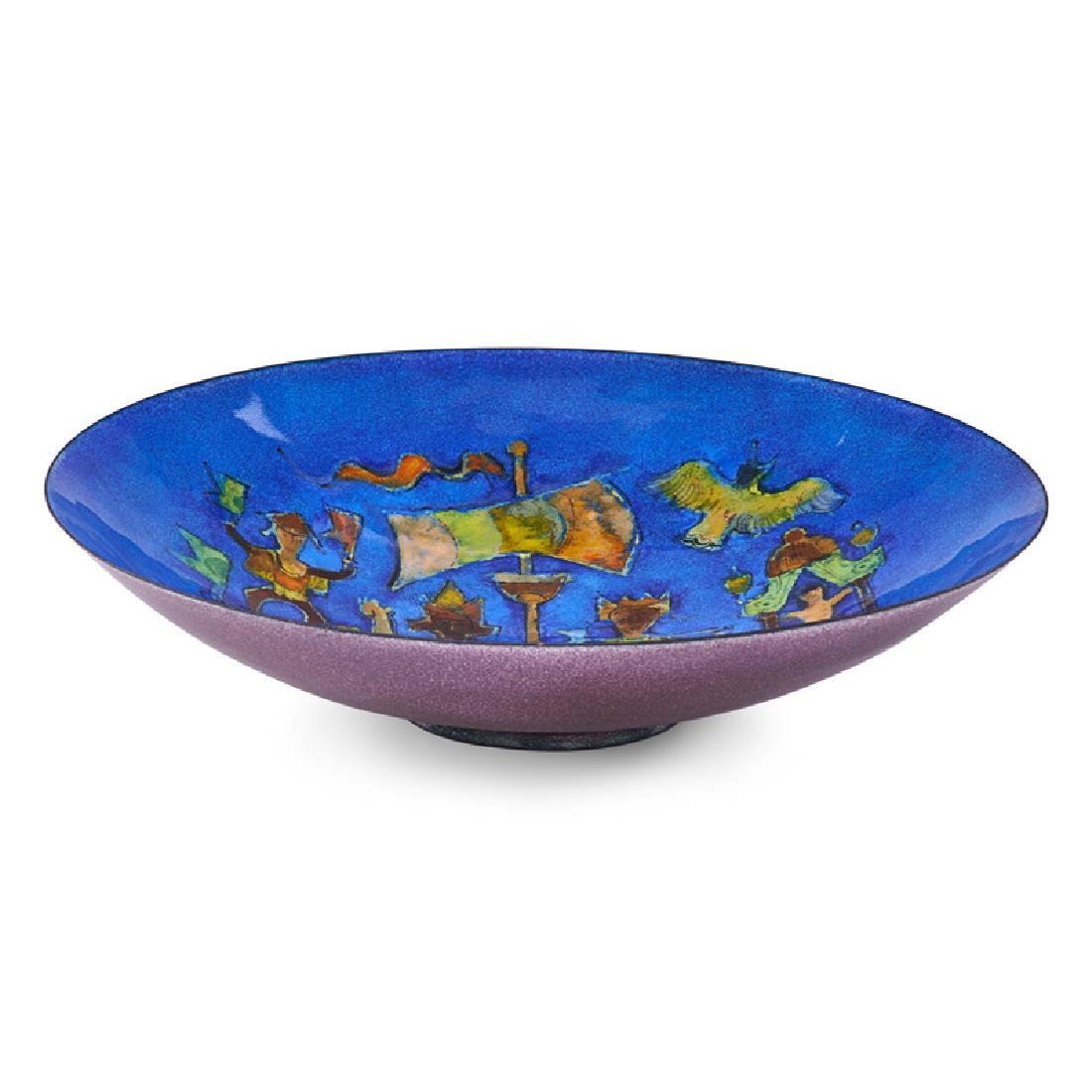 KARL DRERUP Enameled bowl with ship - 2