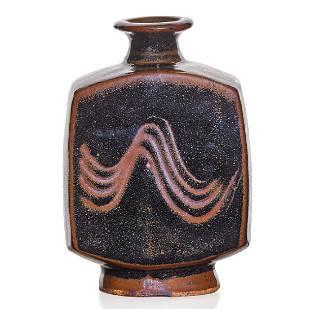 BERNARD LEACH Bottle-shaped vase