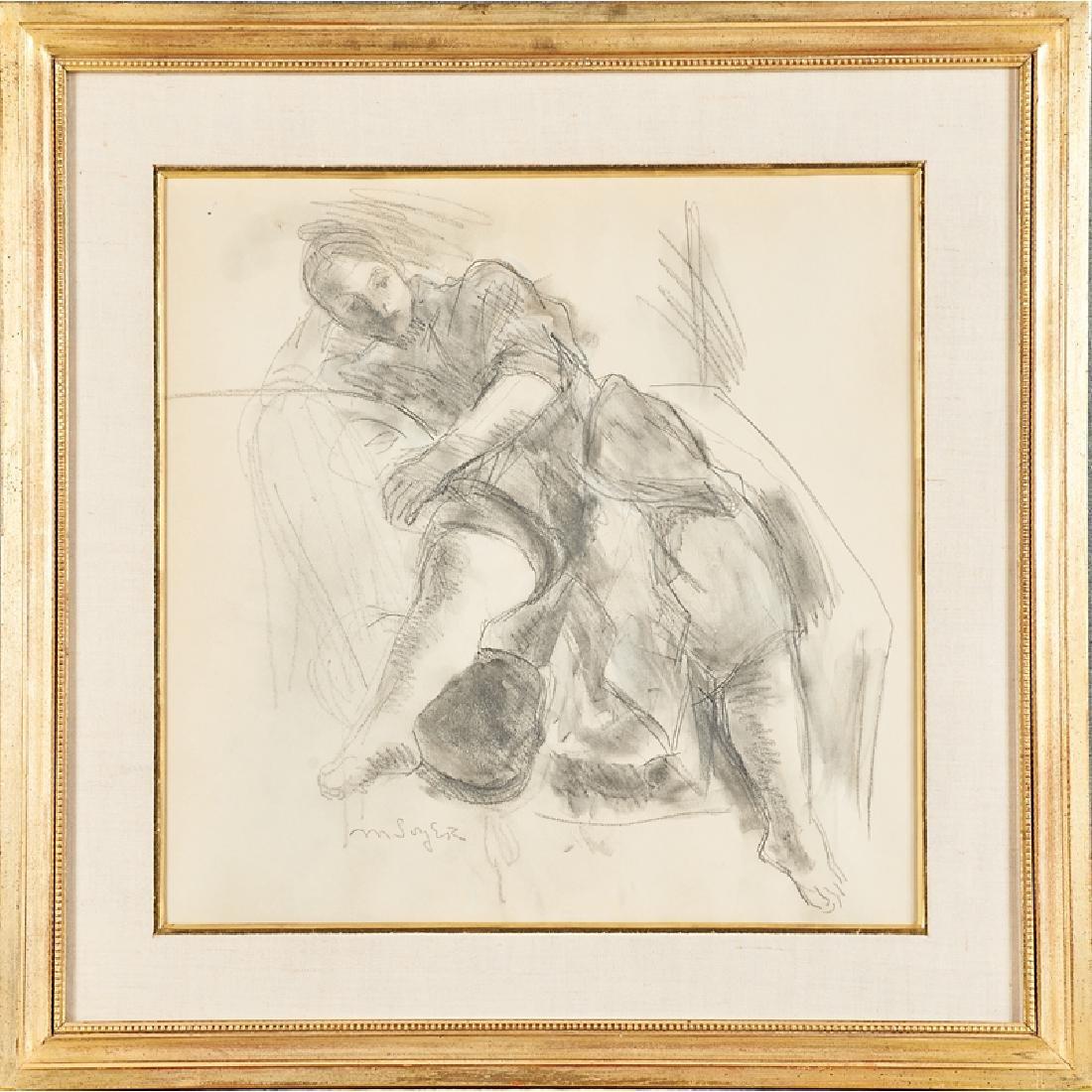 MOSES SOYER (American, 1899-1974); RAPHAEL SOYER (