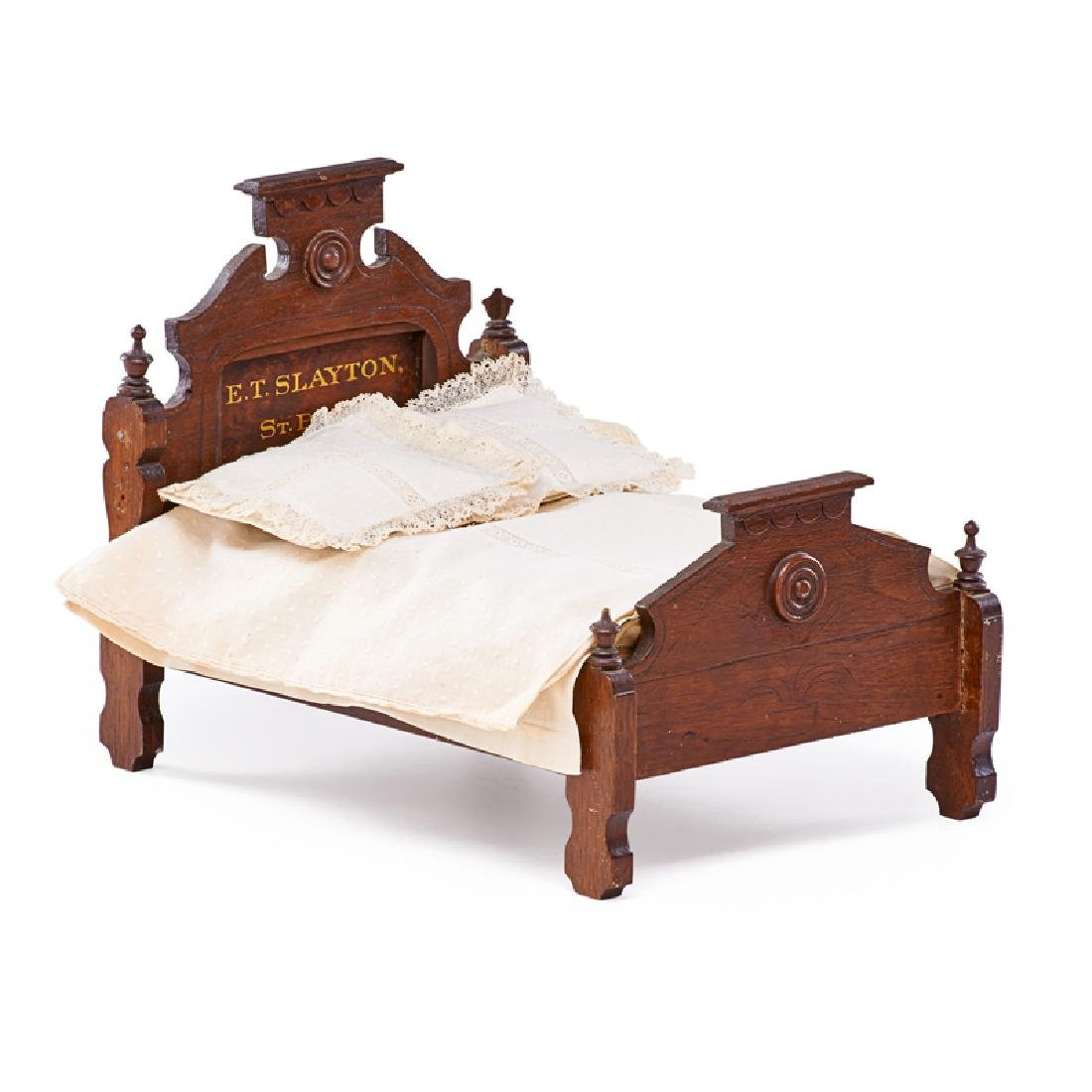 SALESMAN'S SAMPLE VICTORIAN BED