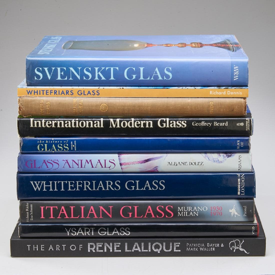 ART GLASS REFERENCE BOOKS