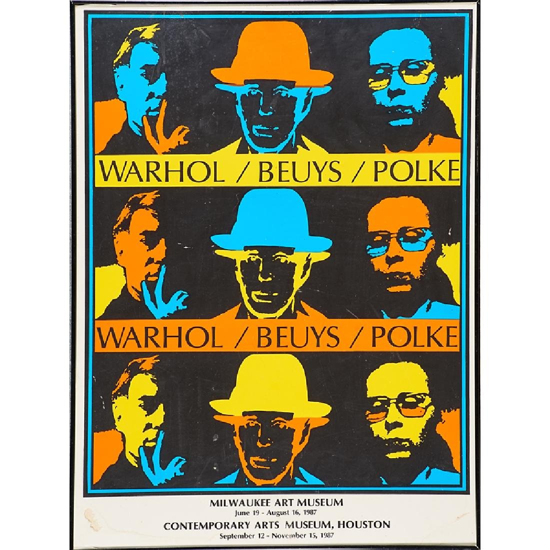 WARHOL / BEUYS / POLKE EXHIBITION POSTER
